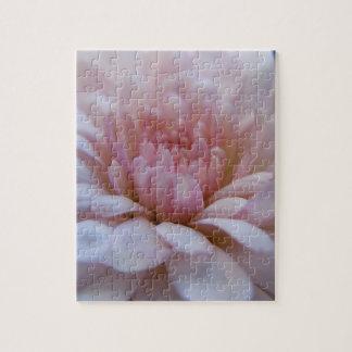 Soft Pink Chrysanthemum Puzzle