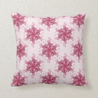 Soft pink circles design in a pattern cushion