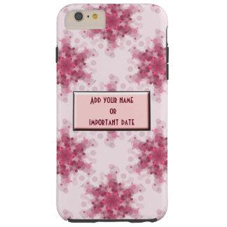 Soft pink circles monogram name date phone case