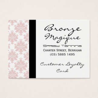 Soft Pink Damask Business Customer Loyalty Cards