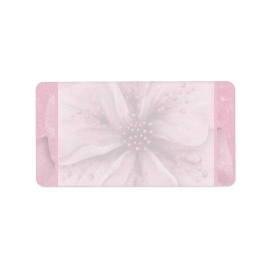 Soft Pink Floral Address Label