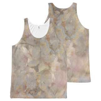 Soft Pink Floral All-Over Print Tank Top
