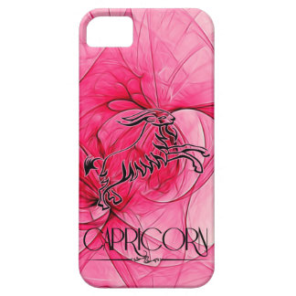 Soft Pink Floral and Black Capricorn Zodiac iPhone 5 Covers