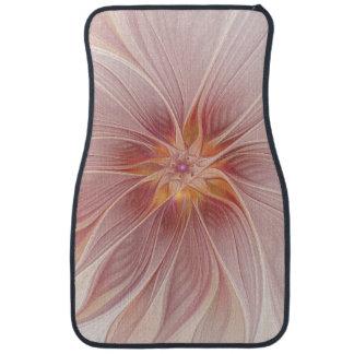 Soft Pink Floral Dream Abstract Modern Flower Car Mat