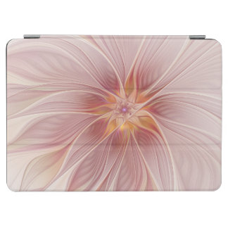Soft Pink Floral Dream Abstract Modern Flower iPad Air Cover