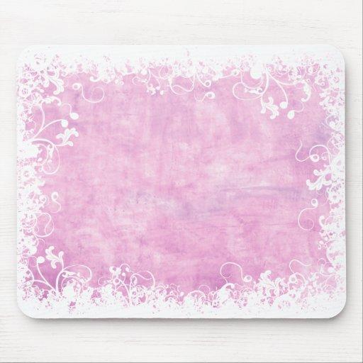 Soft Pink Floral mousepad