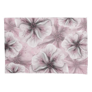 Soft Pink Floral Pillowcase