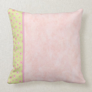 Soft Pink Flowers Throw Pillow