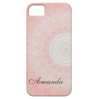 Soft Pink Fractal iPhone 5 Cases
