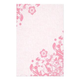 Soft Pink Grunge Floral Stationery (9)