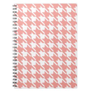 Soft Pink Houndstooth Notebook