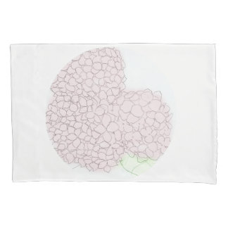 Soft Pink Hydrangea Pillowcase