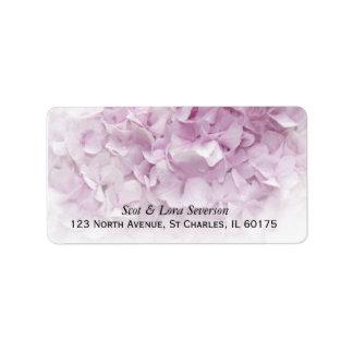 Soft Pink Hydrangea Return Address Label