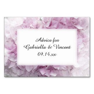 Soft Pink Hydrangea Wedding Advice Cards