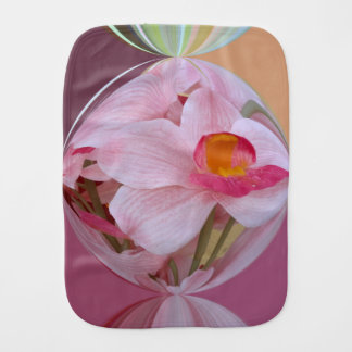Soft Pink Orchid Abstracted Burp Cloth
