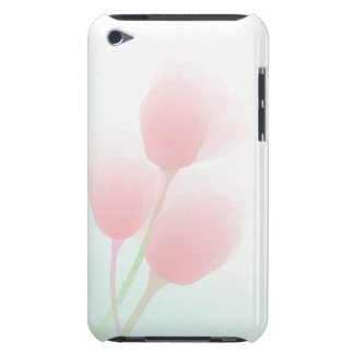Soft Pink Pastel Tulips Wedding iPod Touch Cases