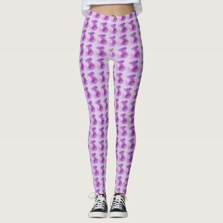 Soft pink & purple circles design pattern on pink leggings