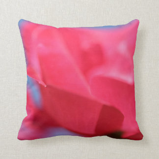Soft Pink Rose and Sky Throw Pillow / Cushion