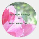 Soft Pink Rose Bookplate