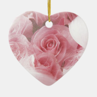 Soft Pink Rose Christmas Ornament