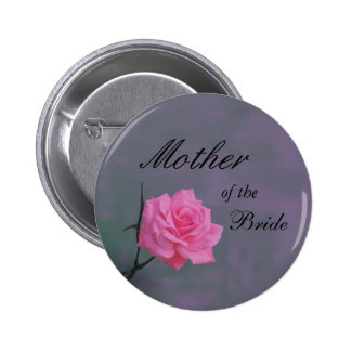 Soft Pink Rose Mother of the Bride Button