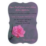 Soft Pink Rose Personalised Wedding Invitation