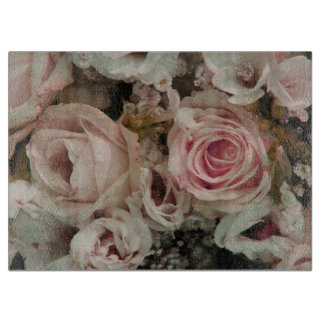 Soft pink roses by Therosegarden Cutting Board
