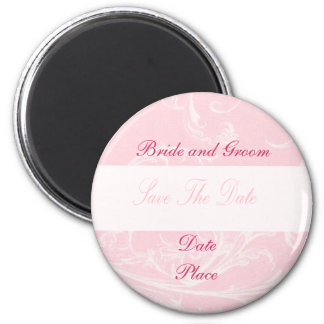 Soft Pink Save the Date 6 Cm Round Magnet