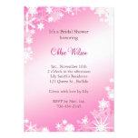 Soft Pink Snowflakes Bridal Shower Invitation