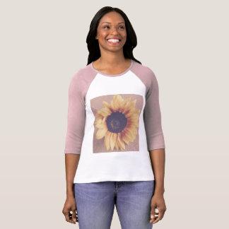 Soft Pink Sunflower T-Shirt