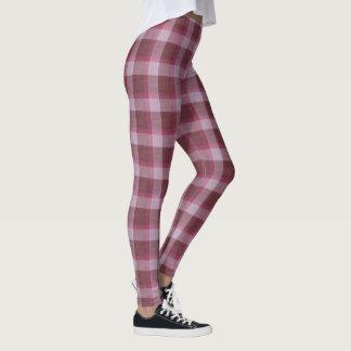 Soft Pink Tartan Plaid Leggings