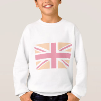 soft pink Union Jack British(UK) Flag Sweatshirt