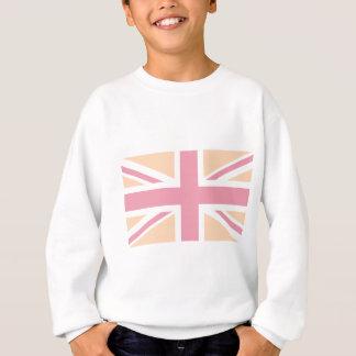 soft pink Union Jack British(UK) Flag Sweatshirt