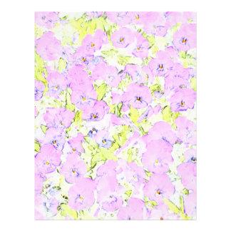 soft pink violets flyers