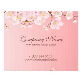 Soft Pink & White Spring Flowers Natural Spa 11.5 Cm X 14 Cm Flyer