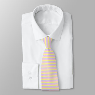 Soft Pink, Yellow and Purple Stripes Tie