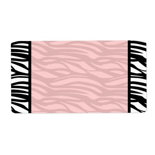 Soft Pink Zebra Blank Labels
