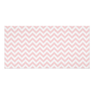 Soft pink zigzag pattern photo card template