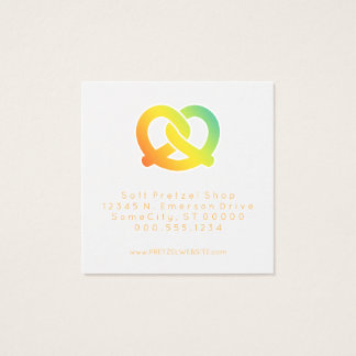 soft pretzels loyalty punch square business card