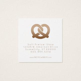 soft pretzels loyalty stamp square business card