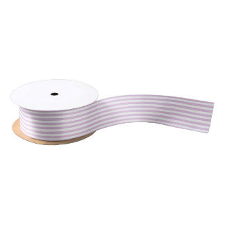 Soft Purple and White Stripes Ribbon Satin Ribbon