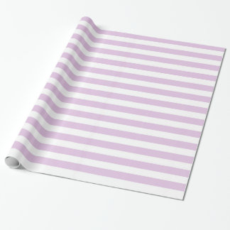 Soft Purple and White Stripes Wrapping Paper