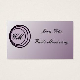 Soft Purple & black artwork business cards