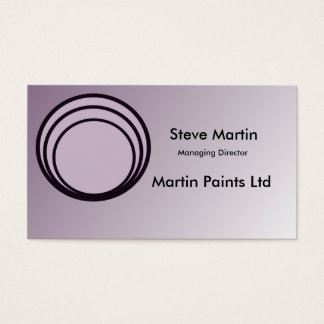 Soft Purple & black customise-able business cards