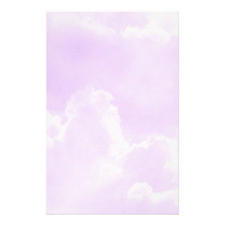 Soft Purple Clouds Stationery