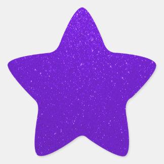 Soft Purple Faux Glitter Star Sticker