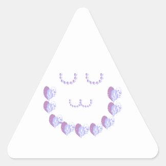 Soft Purple Hearts n Green STARS Stickers