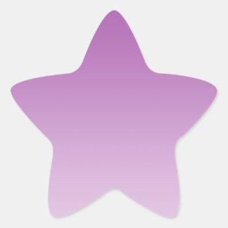 Soft Purple Ombre Star Sticker