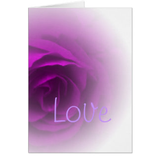 Soft Purple Rose Card