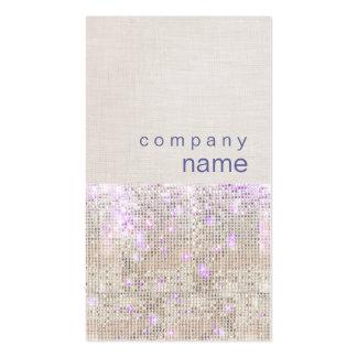 Soft Purple Sparkle Silver Sequins Business Card